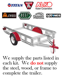 16,000 lb. Tandem Disc Brake Axle Trailer Kit