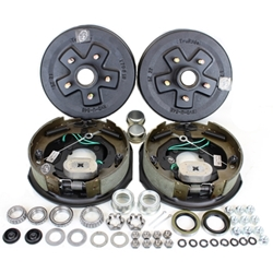 "5-5.5"" Bolt Circle 3,500 lbs. Trailer Axle Self-Adjusting Electric Brake Kit"