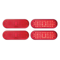 "6"" Oval Sealed LED Stop/Turn/Tail Light (48 Diodes) Pair"