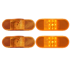 "6"" Oval Sealed LED Intermediate Marker Light Pair"