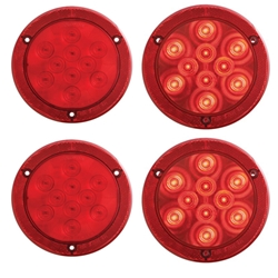 "4"" Round Sealed LED Lights with Reflex Mounting Flange Pair"