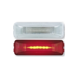 Clear Lens Red Thin Line Sealed LED Marker/Clearance Light