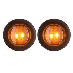 "Amber Uni-Lite™ 3/4"" Sealed LED Marker/Clearance Lights Pair"