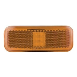 Amber Rectangular Thin Line LED Marker/Clearance Light 2 Diodes