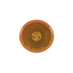 "2.5"" Round Sealed Amber LED Marker/Clearance Lights with Reflex"