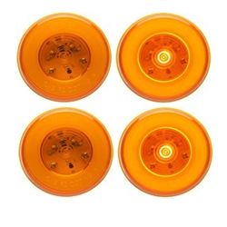 "GloLight™ 2.5"" Round Sealed Amber LED Marker/Clearance Light Pair"