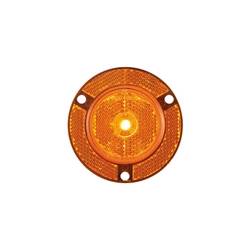 "2"" Amber Round Sealed 7-LED Flange Mount Marker/Clearance Light with Reflex"