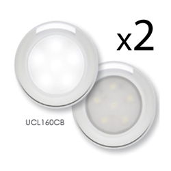 GLOLIGHT ™  Utility Light w/Chrome Trim Ring Pair