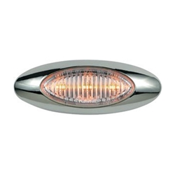 "Clear Lens Millennium Series 4"" Sealed LED Marker/Clearance Light Amber"