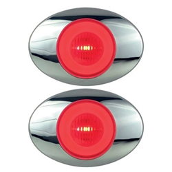 "GloLight Millennium Series 3"" Sealed LED Marker/Clearance Light Red Pair"