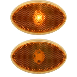 1-LED yellow marker/clearance light
