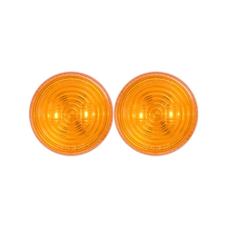 "2.5"" Amber Marker/Clearance Light w/Weathertight Connection Pair"