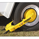 Ultra-Max Wheel Lock with Disc to cover lugs nuts and prevent tire removal and theft. Easily adjusts to fit many different size tires and wheels.