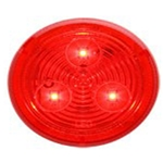 "Red 2.5"" Round Sealed LED Marker/Clearance Light"