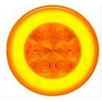 "4"" Round GloLightTM Parking/Rear Turn Signal Light Amber"