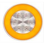 "4"" Round GloLightTM Clear Turn Light Amber"