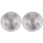 "Clear lens Red 2.5"" Round Sealed LED Marker/Clearance Light Pair"
