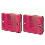 Red Square LED Marker/Clearance Light Pair
