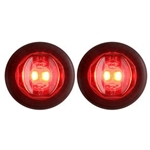 "Red Uni-Lite™ 3/4"" Sealed LED Marker/Clearance Lights Pair"