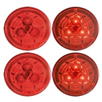 "Red Miro-Flex™ 2.5"" Round Sealed LED Marker/Clearance Light Pair"