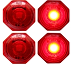 "Uni-Lite™ 3/4""Red LED Non-Directional Marker/Clearance Light Pair"