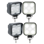 Opti-Brite ™  4-LED Square Work Light Pair