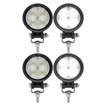 Opti-Brite™ 4-LED Round Work Light Pair