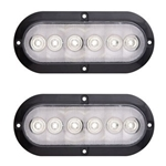 "FLEET Count™ 6"" Oval Sealed LED Utility Light for Surface Mount Pair"