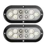 "6"" Oval Sealed LED Utility Light for Surface Mount Pair"