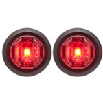 "Red Uni-Lite™ 3/4"" Sealed LED Marker/Clearance Lights - P2 Pair"